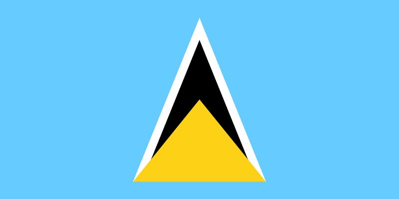 Logo Gambar Bendera Negara Saint Lucia PNG JPG ukuran 800 px