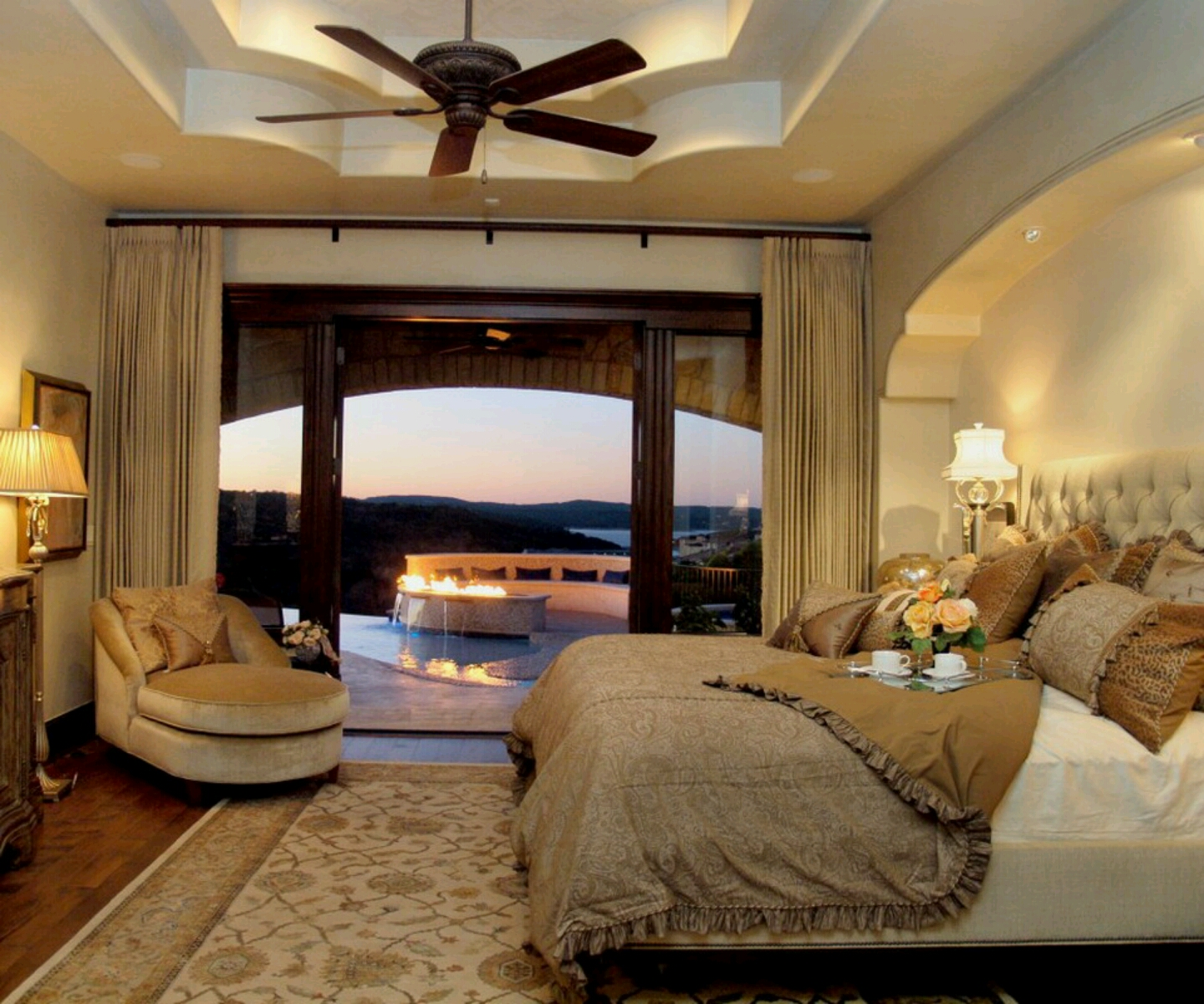 New home designs latest modern bedrooms designs ceiling for Ceiling styles ideas