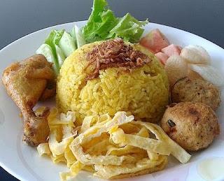 resep cara membuat nasi kuning enak di rice cooker