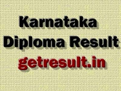 DTE Karnataka Diploma Result April/May 2015