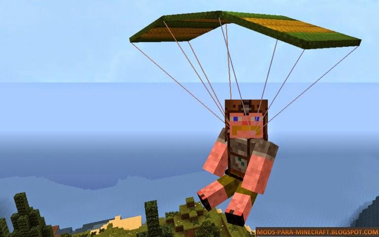 Parachute Mod para Minecraft 1.8/1.8.8/1.8.9