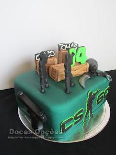 Counter-Strike sugar paste cake