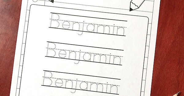 Editable Name Tracing Sheet | Totschooling - Toddler