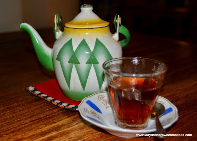 Arabic Tea at Al Fanar restaurant, Dubai Festival City