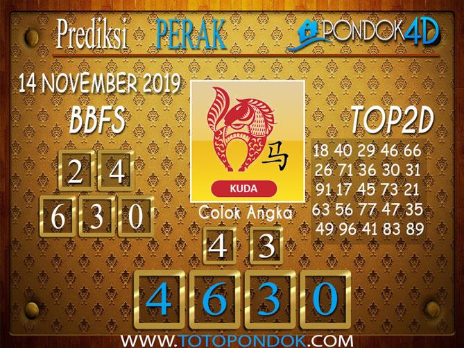 Prediksi Togel PERAK PONDOK4D 14 NOVEMBER 2019