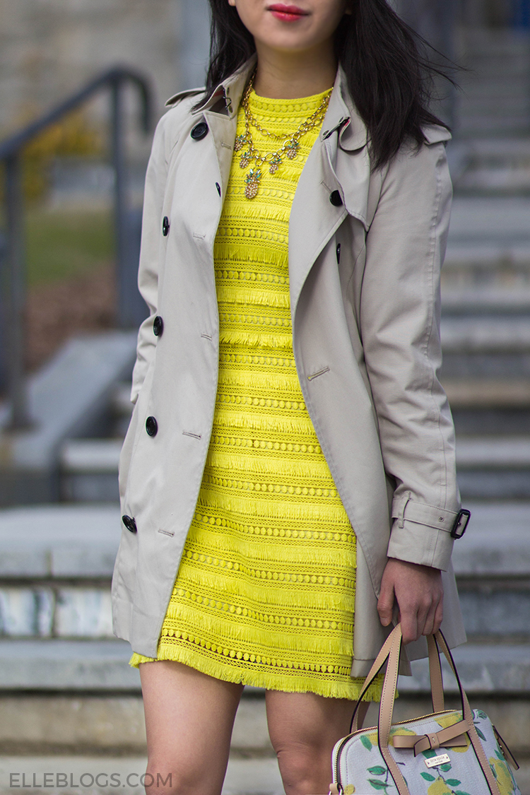 Bright Citron (Featuring the J. Crew Sheath Dress in Fringy Lace)