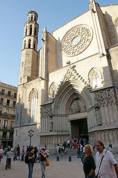 Santa Maria del Mar Church in Barcelona, Catalonia, Spain