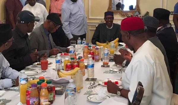 President Buhari hosts delegation of APC Governors and Leaders in London