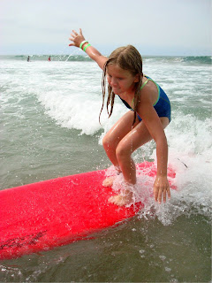 Surfing is a popular summer camp sport at Aloha Beach Camp in Los Angeles