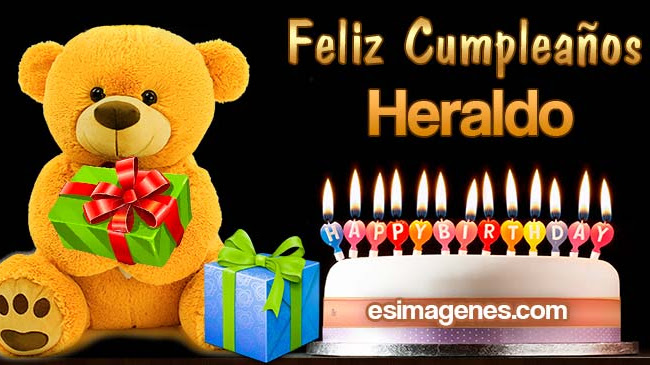 Feliz cumpleaños Heraldo
