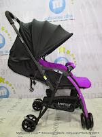 Kereta Bayi LightWeight BABYELLE S606RH CitiLite Purple - Hadap Depan atau Belakang
