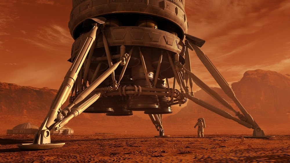 Legs of Mars Ascent Vehicle (MAV) - concept art for The Martian by Steve Burg