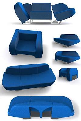 Diseño de sofá o sillón creativo