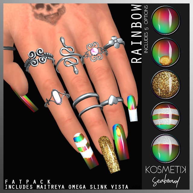 .kosmetik Nails Seaboard Rainbow