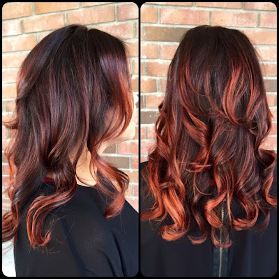Balayage Highlights red