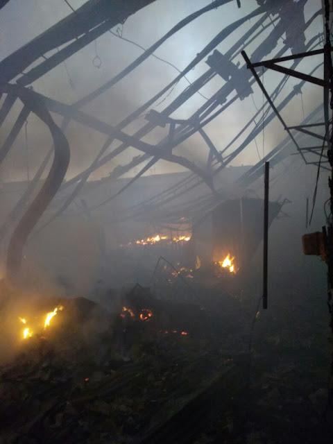 Foto-foto Kebakaran Pasar Wonokriyo