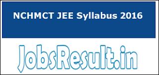 NCHMCT JEE Syllabus 2016