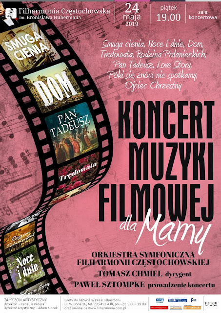 Koncert Muzyki filmowej dla Mamy Filharmonia Częstochowska