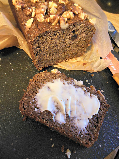 Whole Grain Fruit Sweetened Quick Bread, tastes great and slices beautifully.