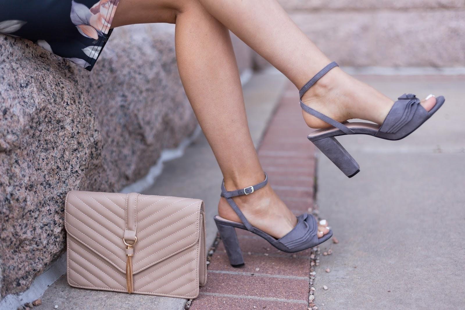 ruffle trim peeptoe heels