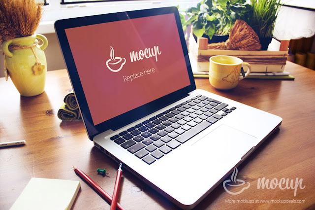 Creative Macbook Pro PSD Mockup