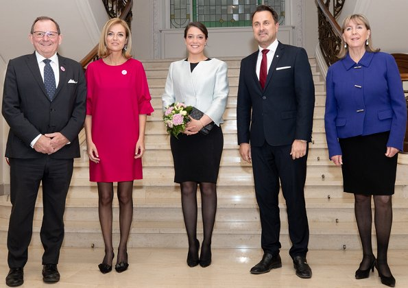 Luxembourg Constitution and the democratic process in the Grand Duchy. Princess Alexandra of Luxembourg wore Elie Saab jacket