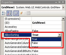 Gridview Sorting Using C# ~ Debugger Javascript
