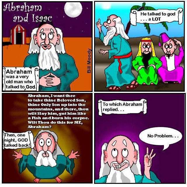 Abraham and Isaac cartoon strip