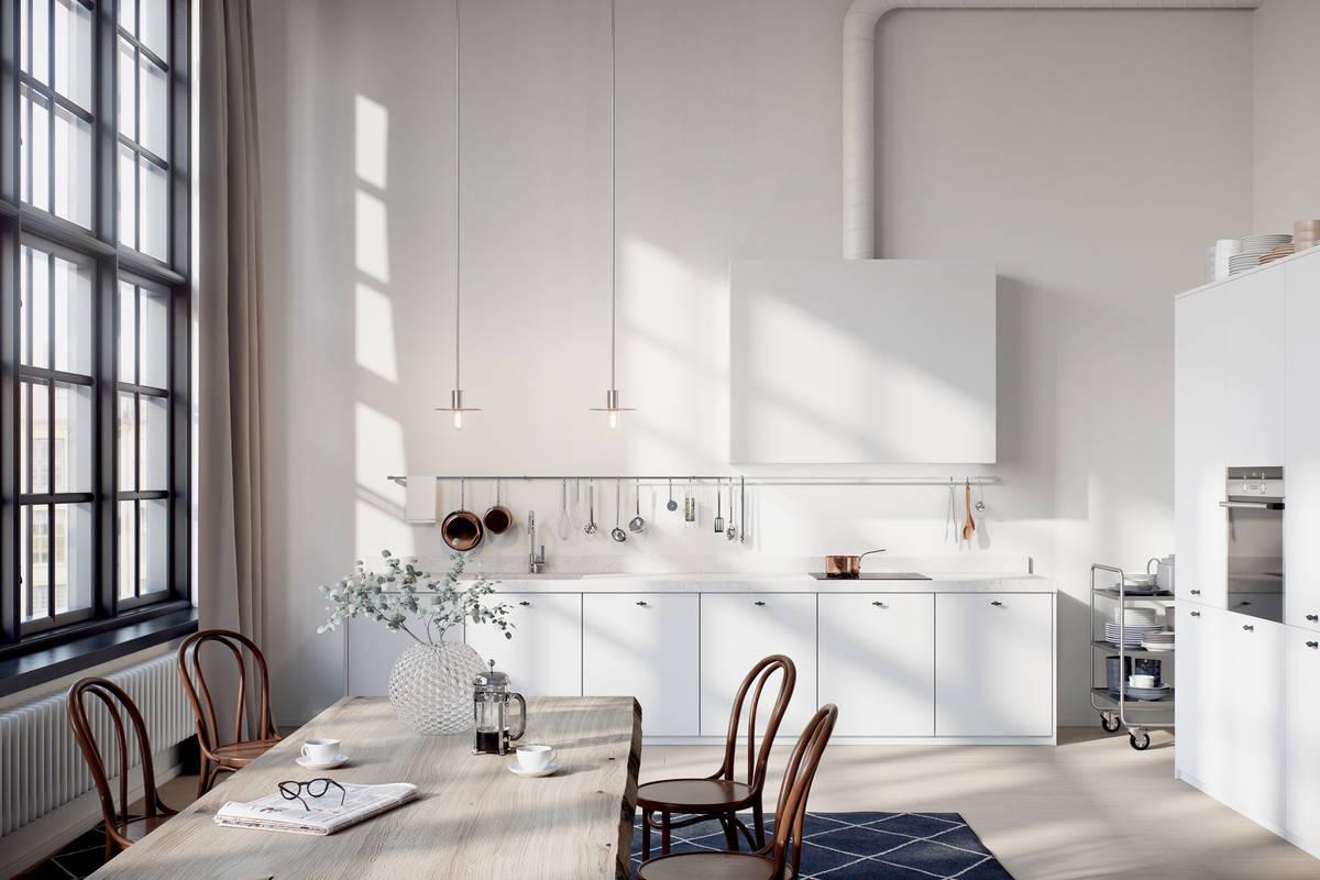 Toni neutri per un appartamento svedese