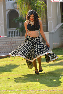 Hebah Patel in Spicy Black Choli and Ghagra HD Pics  025.jpg