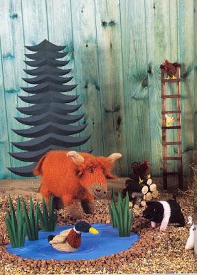 Animaux de la ferme au tricot