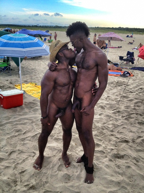 Opinion you black men nude by beach more