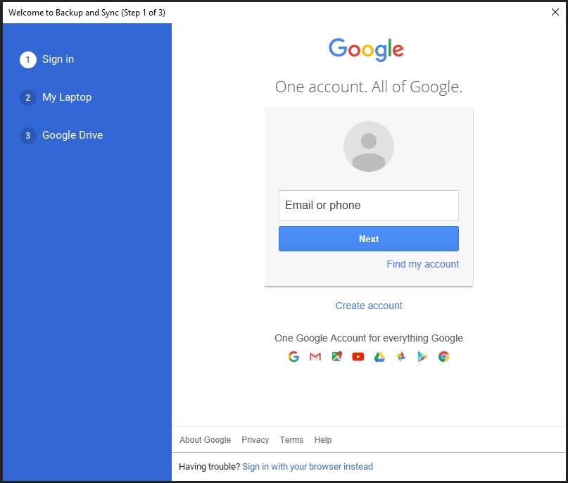 Đăng nhập tài khoản Gmail