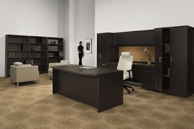 How To Create A Stylish Executive Workspace From Scratch by OfficeAnything.com