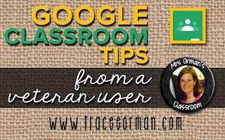 Google Classroom™ Tips www.traceeorman.com