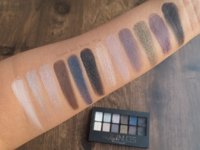 Maybelline The Rock Nudes Eyeshadow Swatch Indian Skin