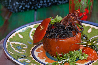 Tomates Rellenos de Arroz Negro