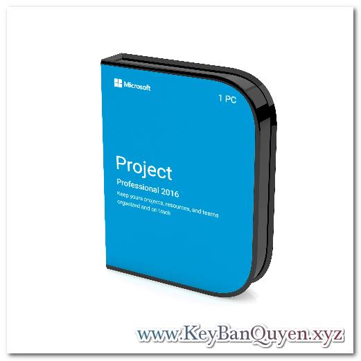 Bán key bản quyền Project Professional 2016 Full 32 và 64 Bit
