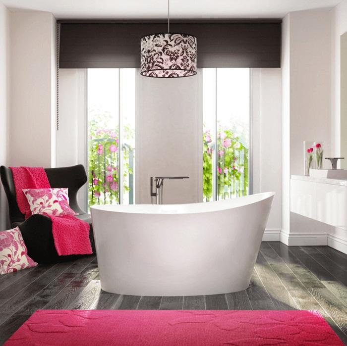 modern banyo dekorasyon örneği