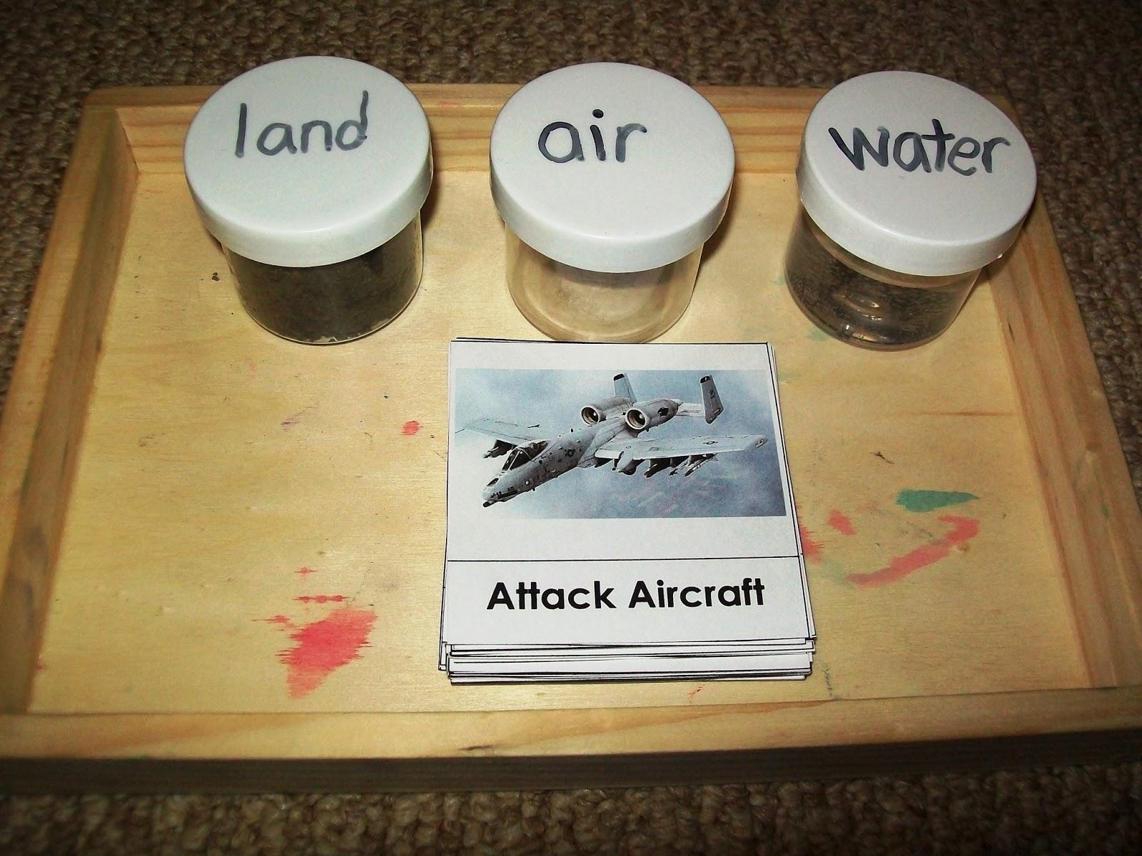 Worksheet Vehicles Air Land Water