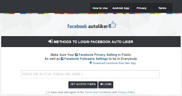 Autoliker4fb website liker tool