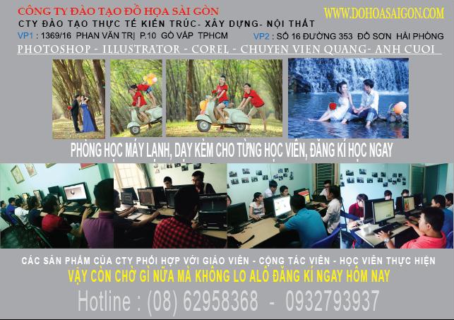Đào tạo Thiết kế Đồ họa Quảng cáo AI -COREL - PHOTOSHOP ở Gò Vấp,Bình Thạnh, HCM 2