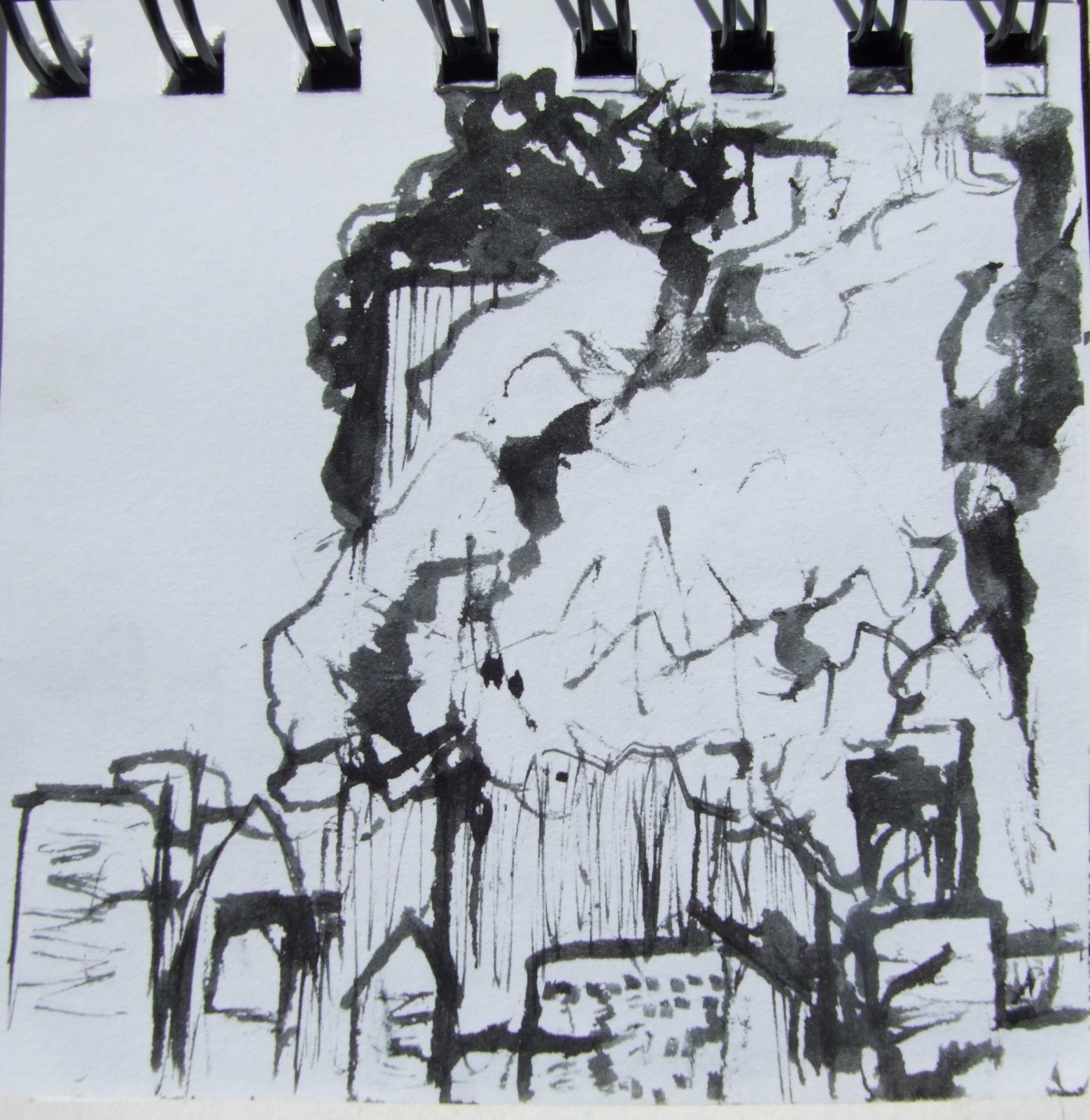Day2day: 9 / 11 Sketchbook (drawings From The TV, Sept