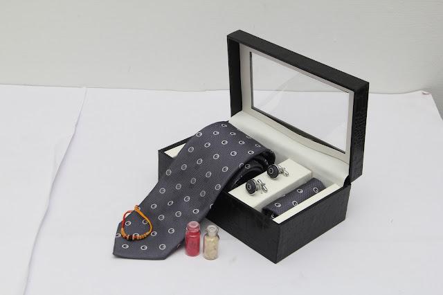 Box of Tie n Cufflinks rakhi combo