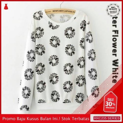 RRC235A44 Aster Flower White Wanita Terbaru BMGShop