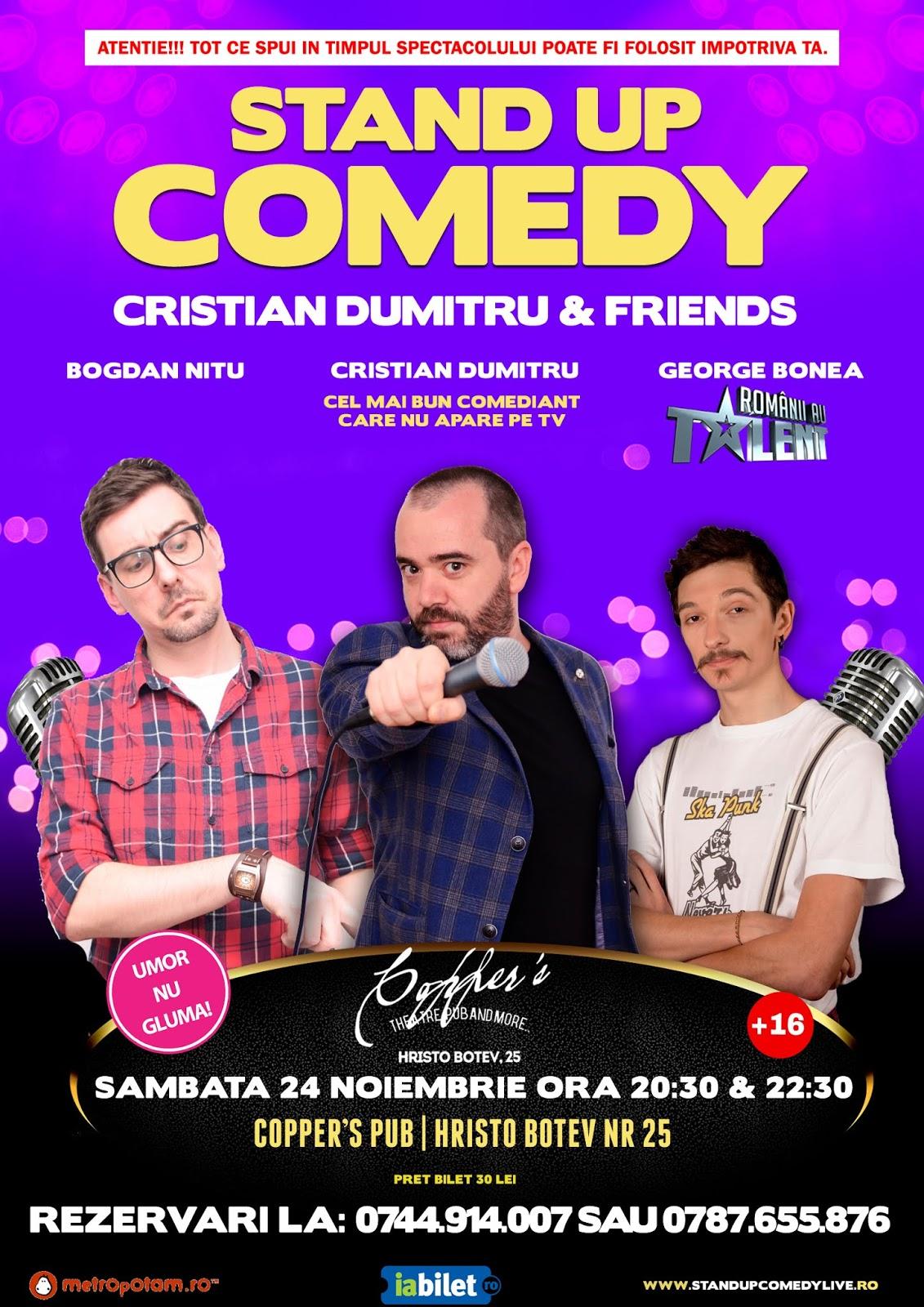 Stand-Up Comedy Sambata 24 noiembrie Bucuresti