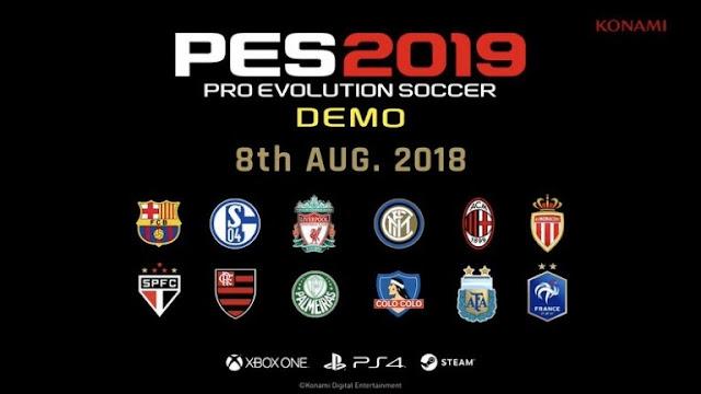 رسميا نسخة ديمو لعبة PES 2019 أصبحت متوفرة للتحميل من هنا ..
