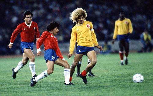 Chile y Colombia en Copa América 1987, 8 de julio