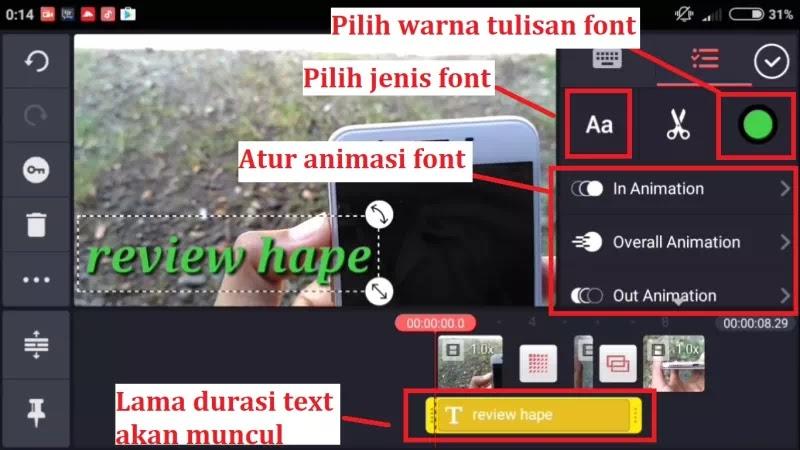 #5 Cara Menambah Tulisan Text Ke Dalam Video