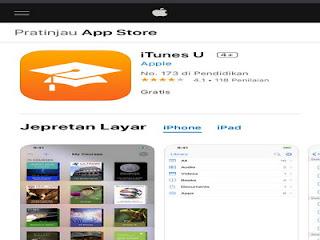 iTunes U aplikasi untuk eLearning terlengkap